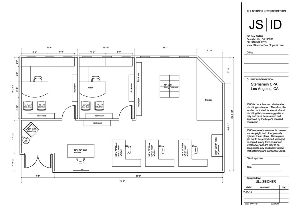 Los Angeles Ca Office Suite Space Planning Layout