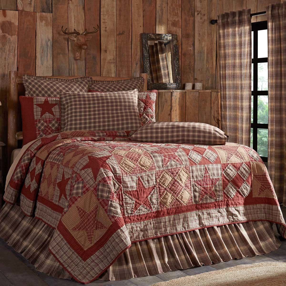 Dawson Star Oversized King Country Quilt 105x120 Sch Home Decor Styles Country House Decor Rustic Bedding