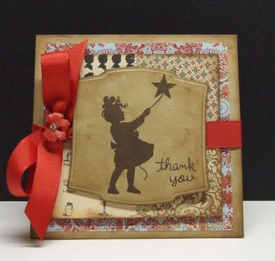 Sweet Silhouette Thank You Card by @Windy Robinson