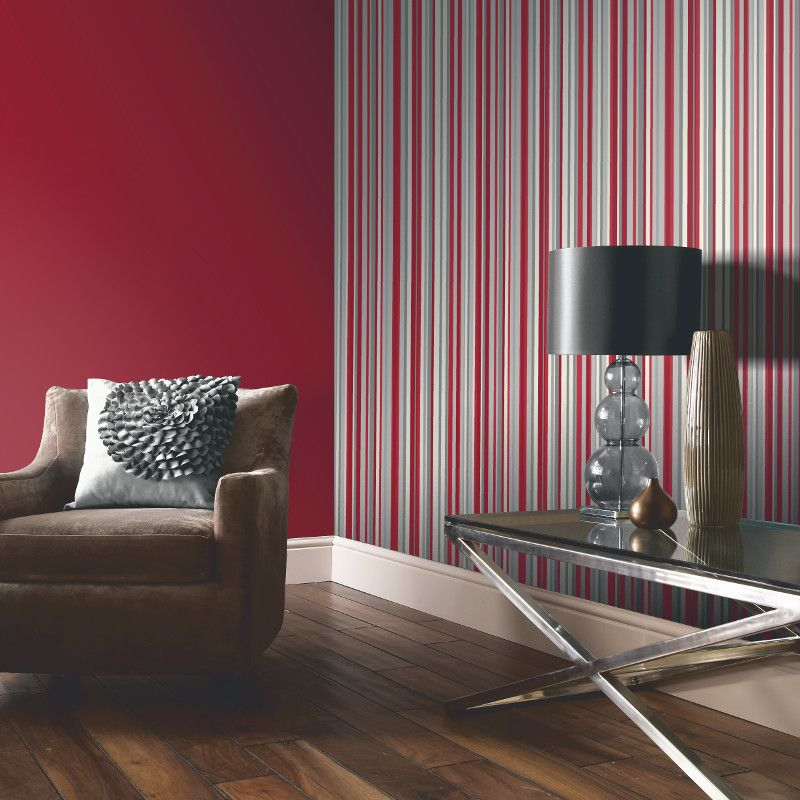 Pin By Johanna Maatala On Dream House Pics 3 In 2019 Striped Wallpaper Beautiful Room Designs Striped Wallpaper Red