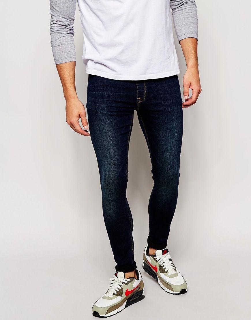 Asos mens skinny slim fit jeans black