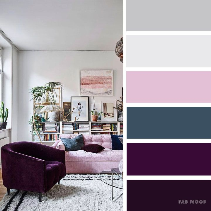 Cashmere rose ,purple and grey color inspiration