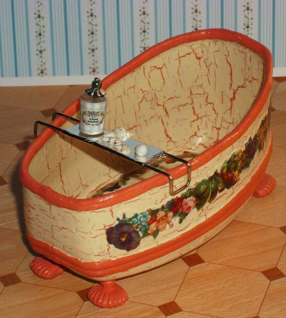 Dollhouse Miniatures Diy Tutorials: Tutorials: Miniature Bath