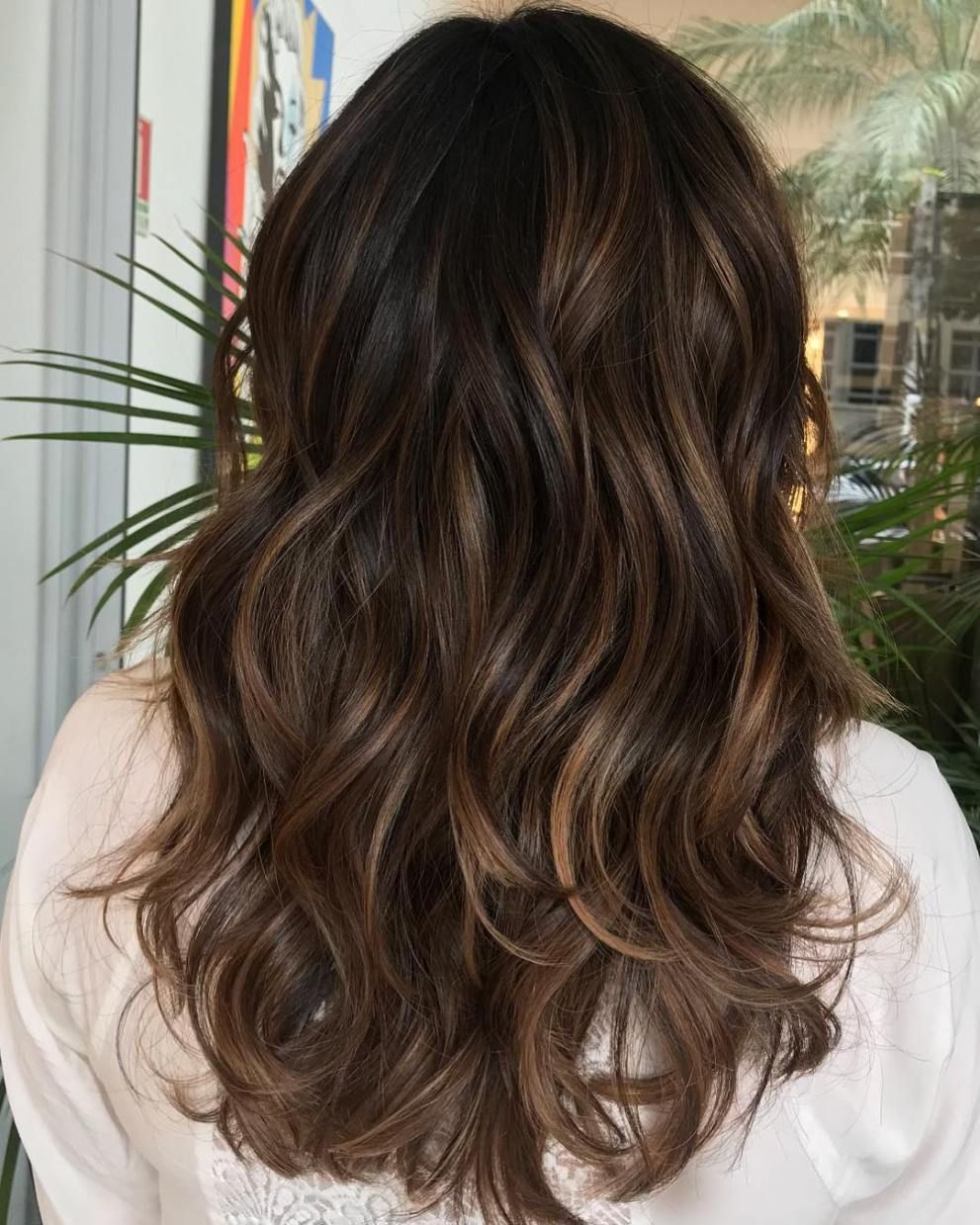 Balayaged Layers For Thick Hair Thick Hair Styles Balayage Hair Short Hair Balayage