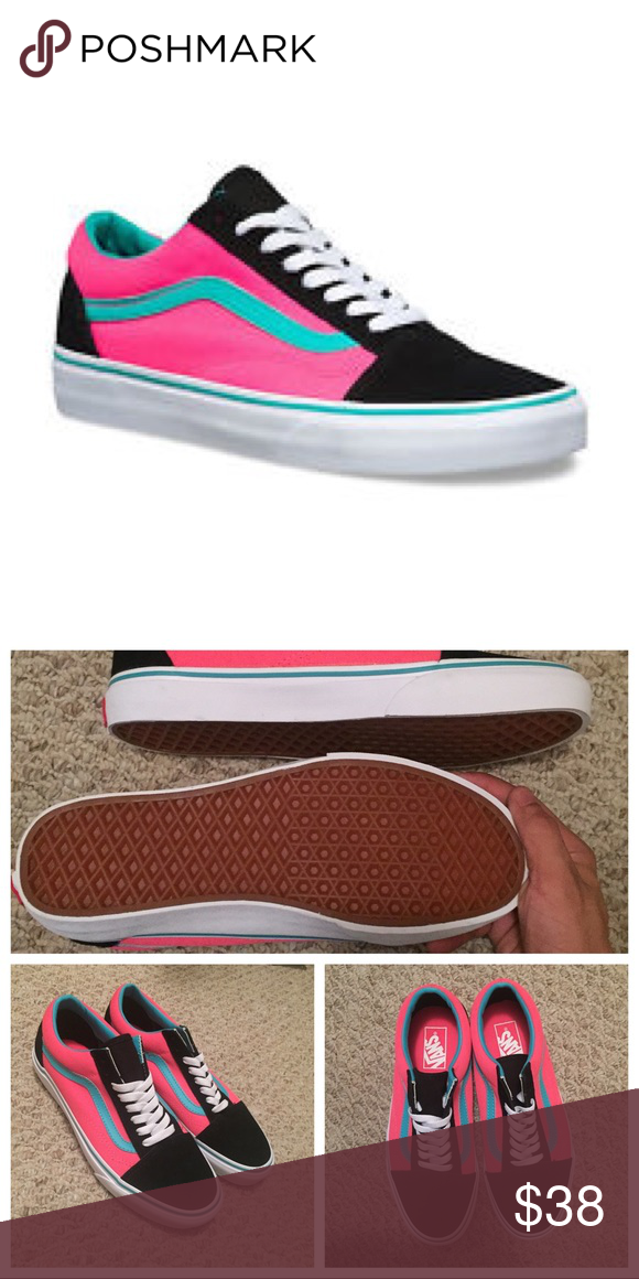246d03793d Vans Old Skool Hot Pink Black Brand New condition. Not sold in stores  anymore!! Vans Shoes Sneakers