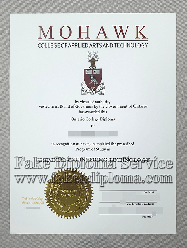 Purchase A Fake Mohawk College Of Applied Arts And Technology Diploma