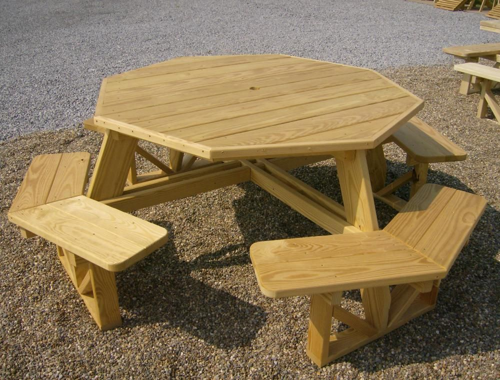 Jakeu0027s Amish Furniture   Octagon Walk In Picnic Table