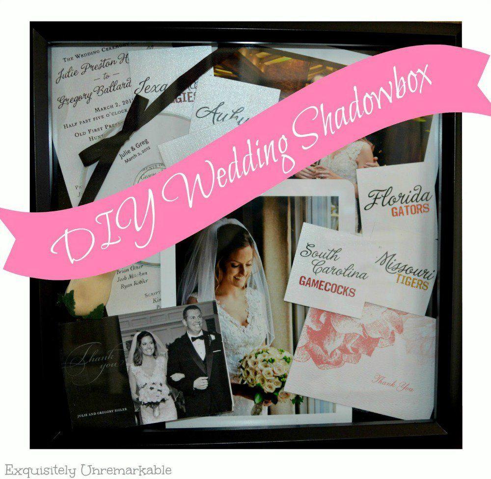 Diy wedding shadowbox wedding shadowbox crafty and album