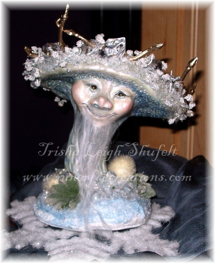 Frosty the Frost Bolete (c)2013  Trisha Leigh Shufelt  Enchanted Mushrooms of Faerie Series Those who are familiar with the Frost Bolete will note I took some artistic liberties.