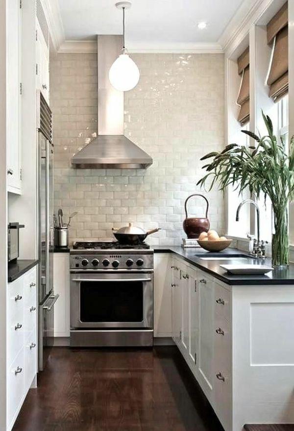 Kleine Küche Funktionalität Ordnung Elegantes Design Fliesen