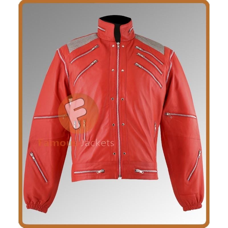 Fancy Dress Michael Jackson Beat It Jacket costume Red