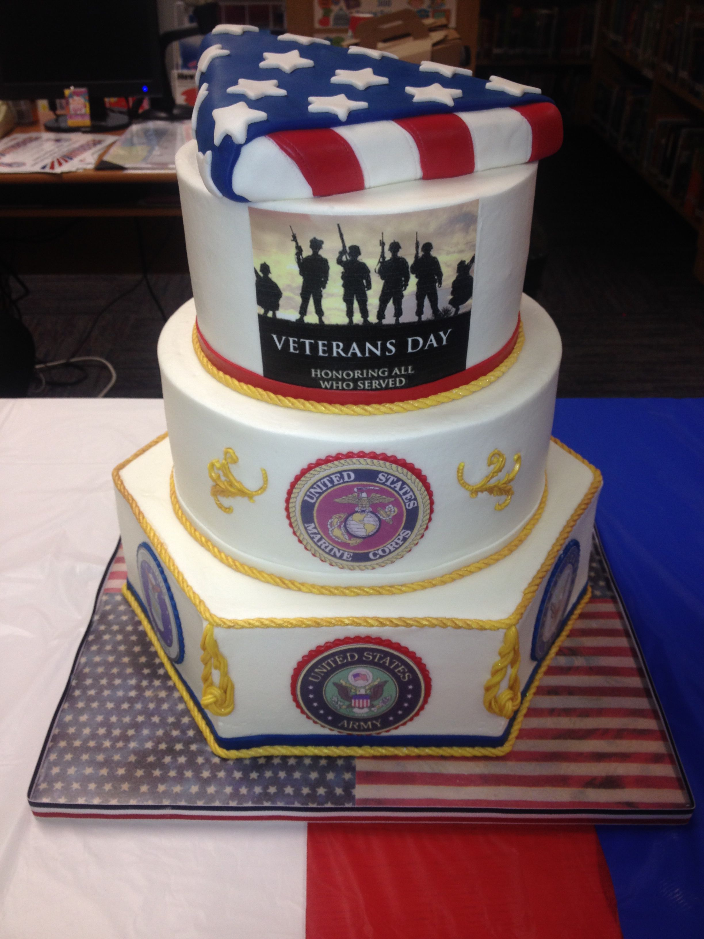 Veterans Day Cake With Images Military Cake Patriotic Cake