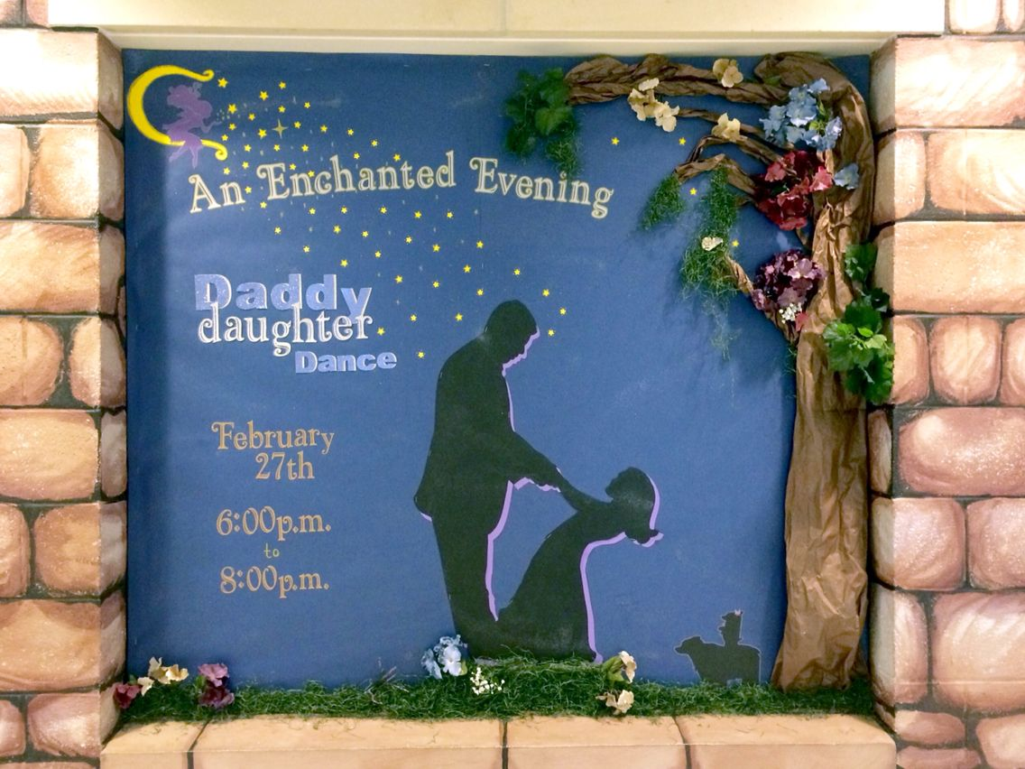 1st Ever Daddy Daughter Dance Bulletin Board 2015 An