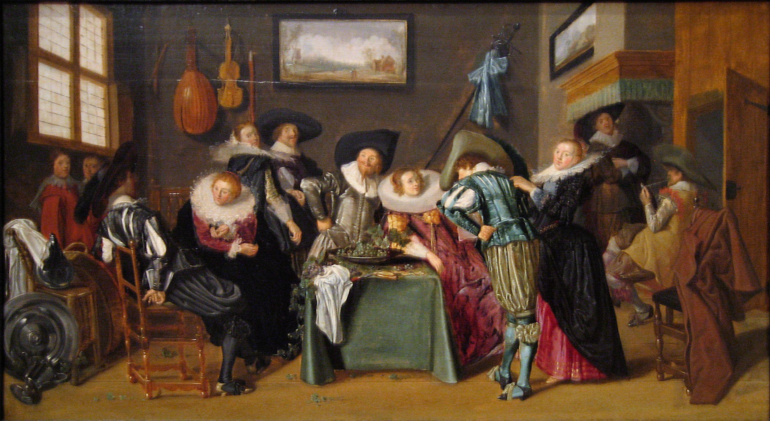 Dirck hals 1591 1656 dutch baroque era for Famous artist in baroque period