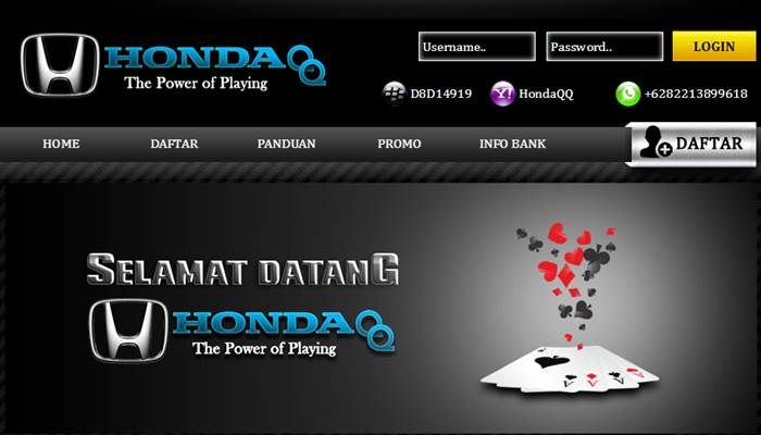 Hondaqq Agen Domino 99 Bandarq Dan Poker Online Terpercaya Merupakan Salah Satu Situs Trobosan Baru Dari Agen Domino99 Di Indonesia Poker Agen Domino