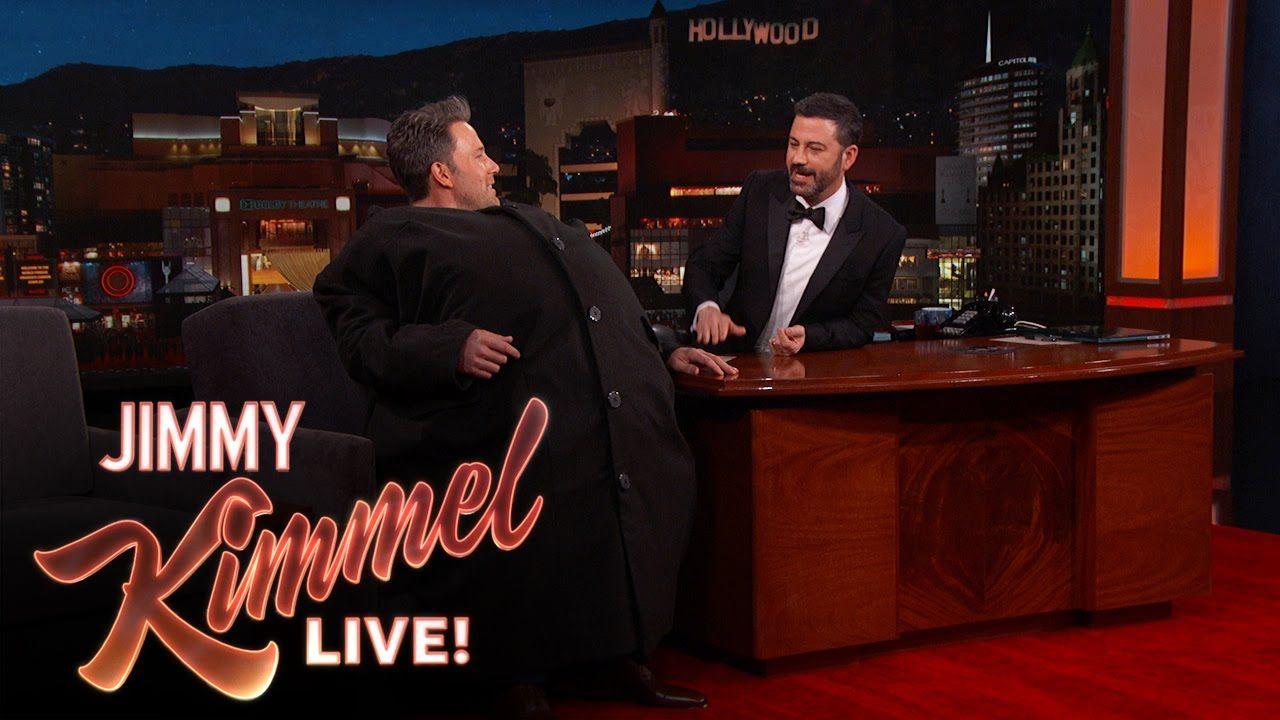 Ben Affleck Sneaks Matt Damon Onto Jimmy Kimmel Live Ben Affleck Matt Damon Jimmy Kimmel Live
