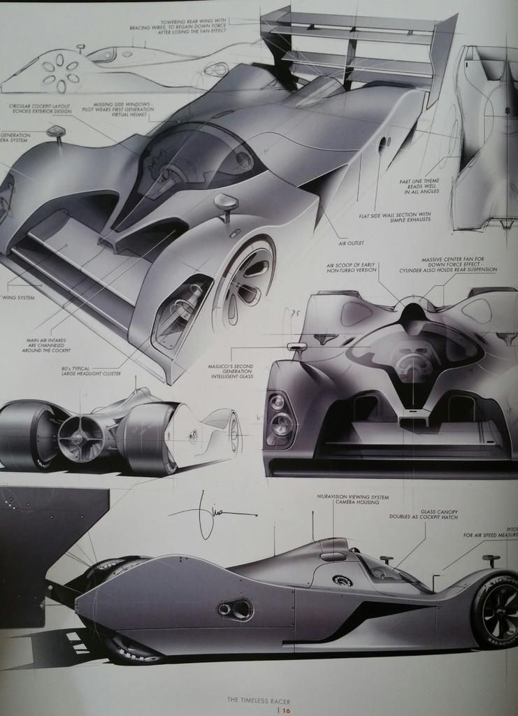 Mark russell on graphics sketch renders diagrams - Croquis voiture ...