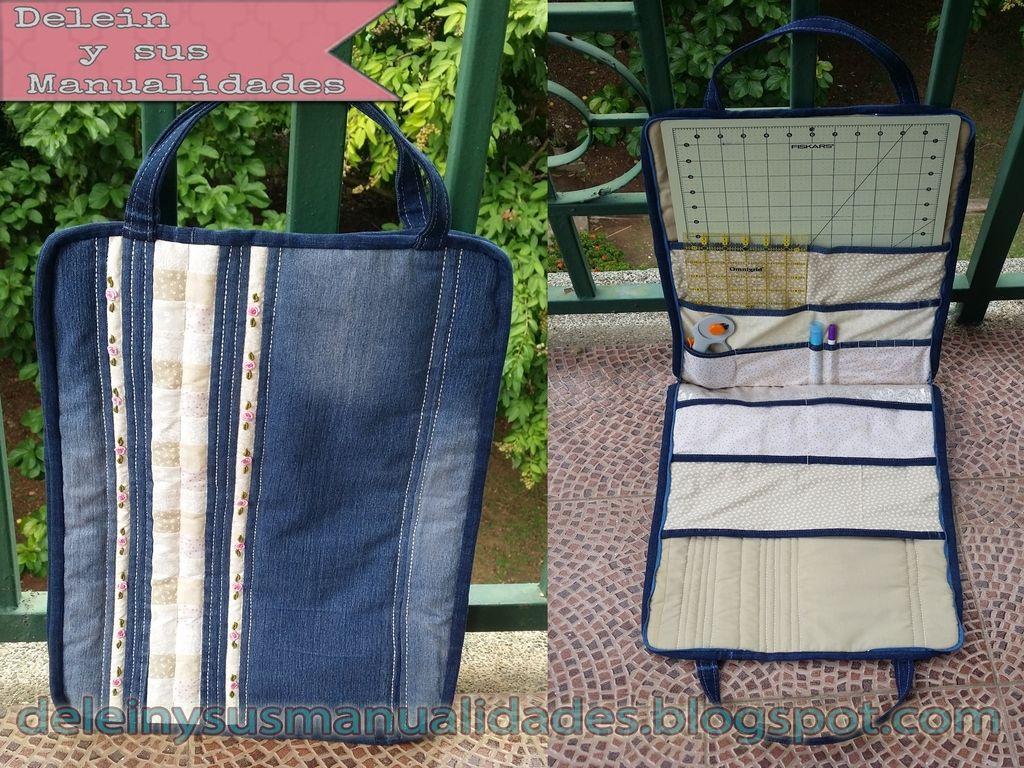 Delein padilla y sus manualidades tutorial bolso porta - Manualidades patchwork bolsos ...