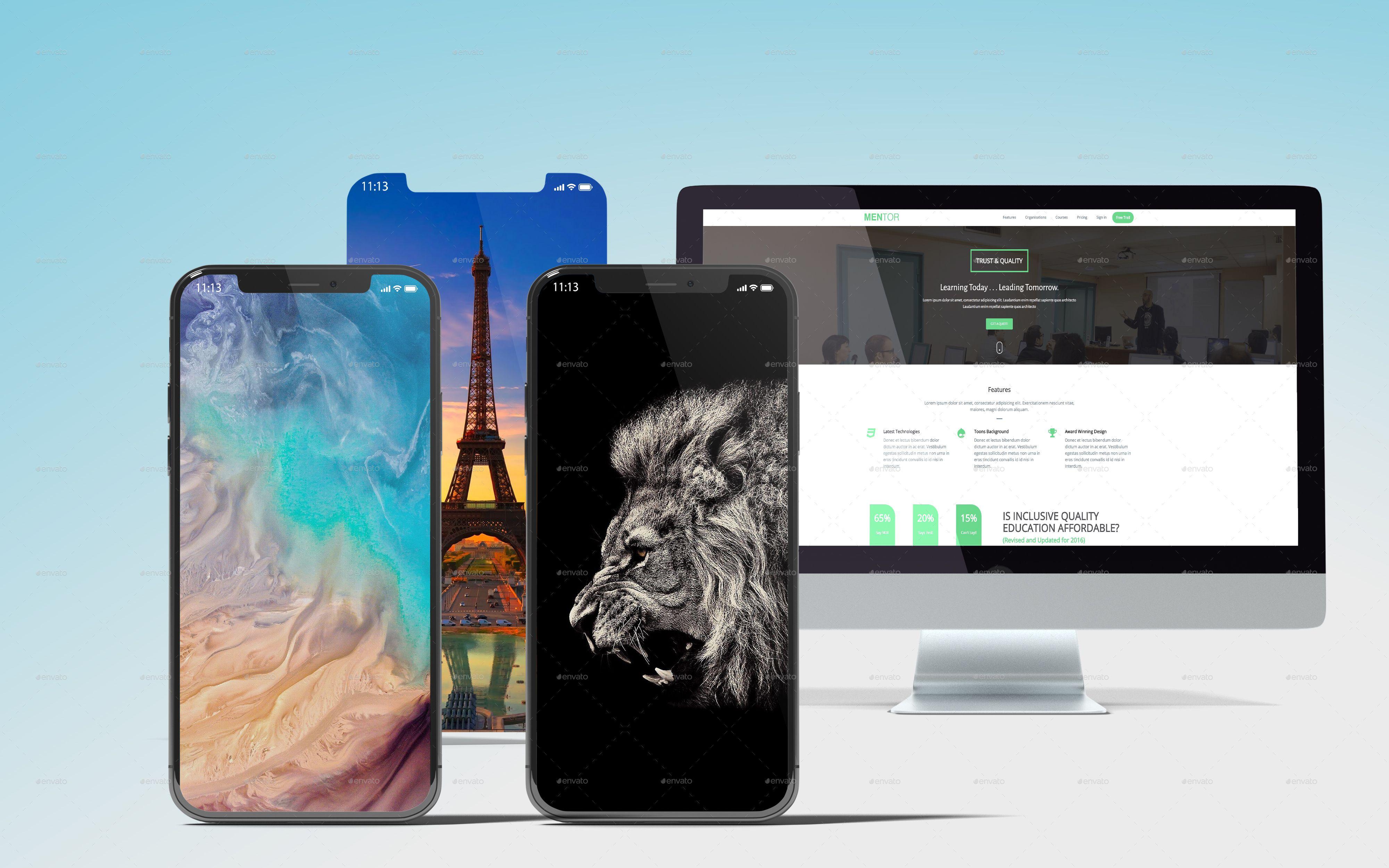 Download Responsive Web Design Showcase Mockup Yellowimages