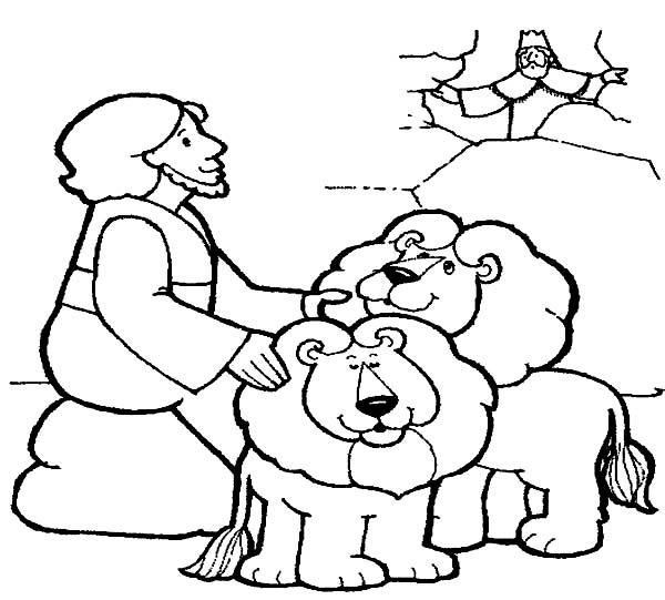 daniel lions den coloring pages - photo#1