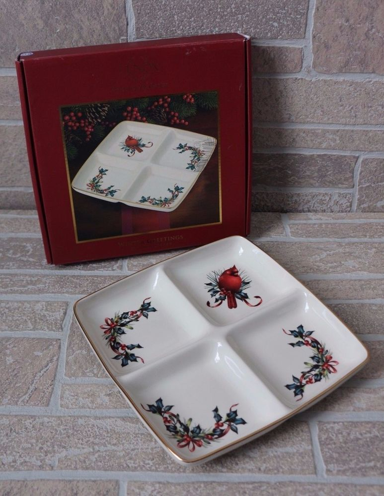 Lenox winter greetings divided server dish holiday christmas lenox winter greetings divided server dish holiday christmas cardinal holly m4hsunfo