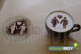 cappuccino schablone