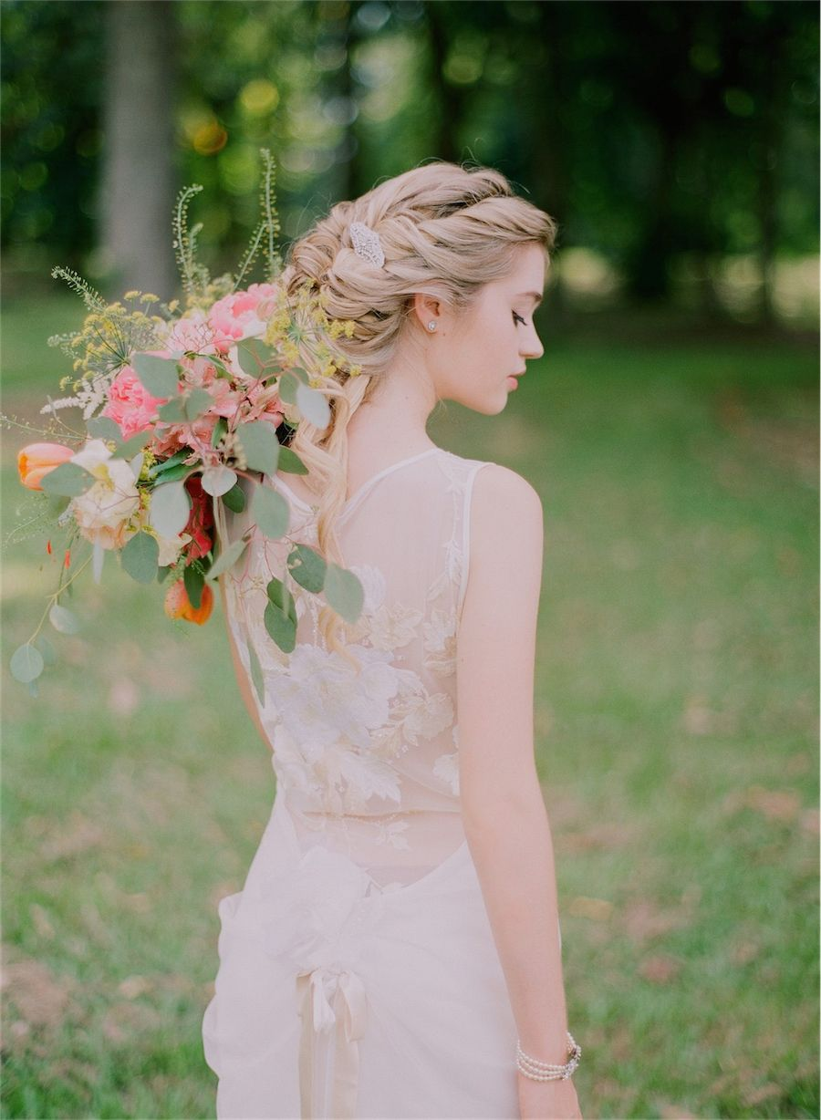 Back detail wedding dress  Divine Duality A Water and EarthInspired Styled Shoot  Wedding