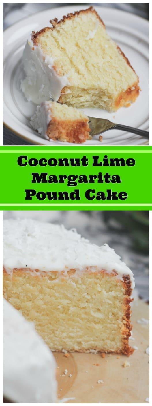 Luscious Coconut Lime Margarita Pound Cake