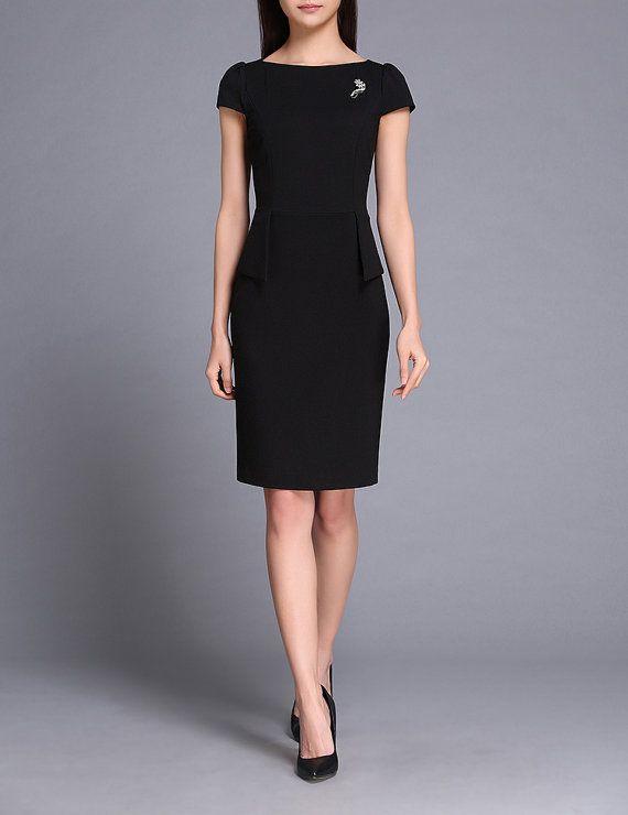 669c8629c4e Diseñador vestuario corporativo a medida oficina usar trajes 2016 en negro  azul y tamaño empresarial vestido CC318 Material: 63.1% Viscose+28.4% ...