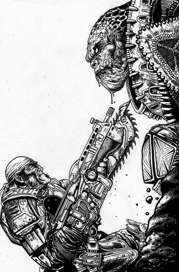Black and white #GearsofWar