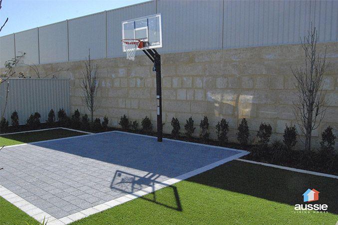 Backyard Basketball Ideas Basketball Court Backyard Backyard Court Backyard