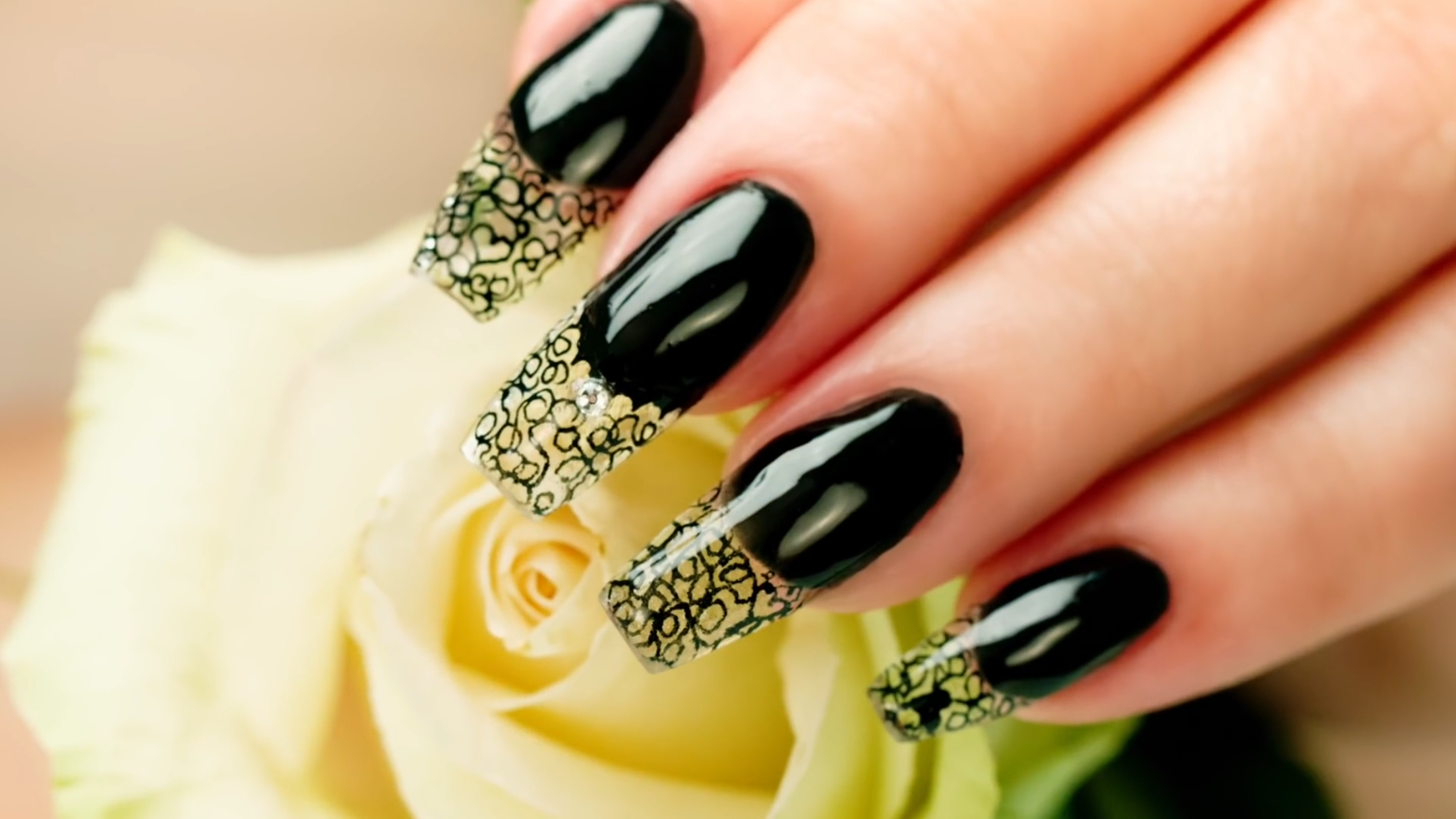 I love this glass acrylic nails by Suzie from nail career education ...