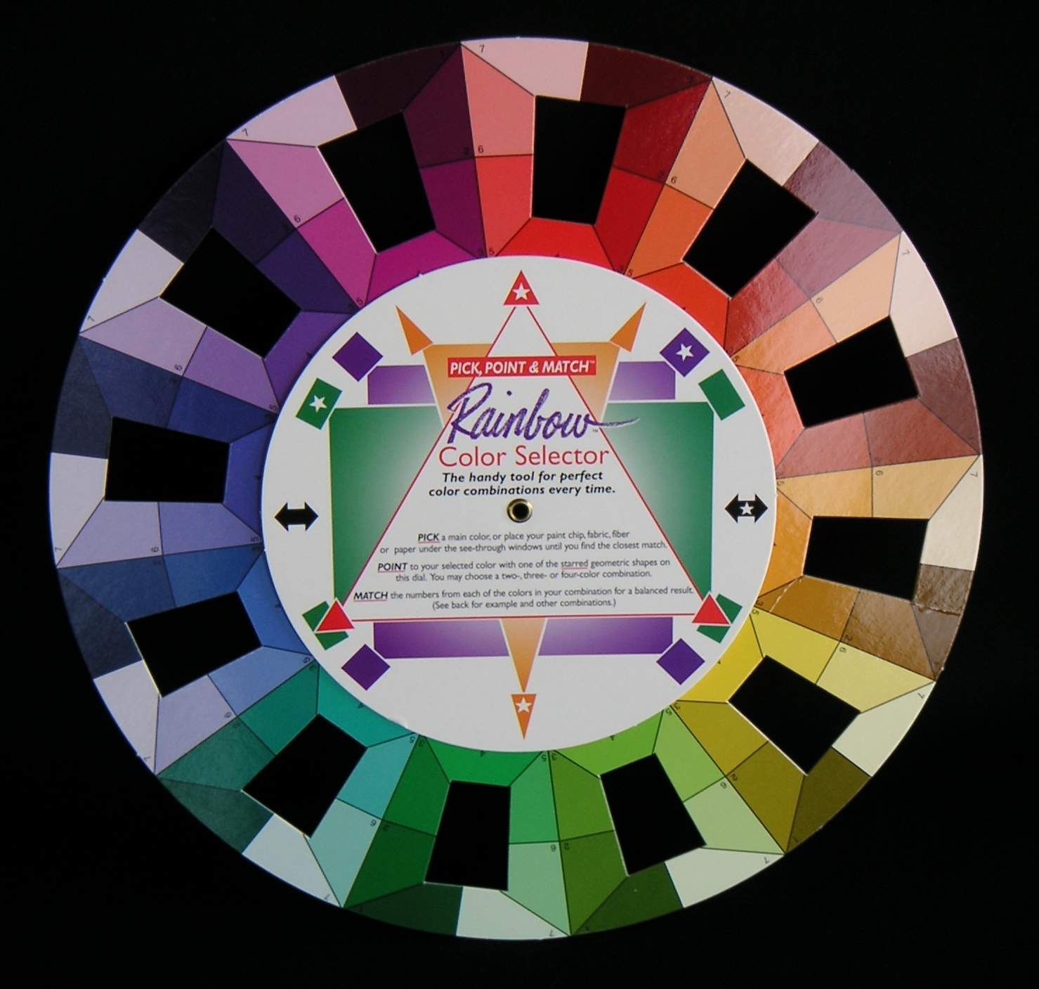Sew Easy Colour Wheel with Tonal Tone Estimator Guide Patchwork Quilting