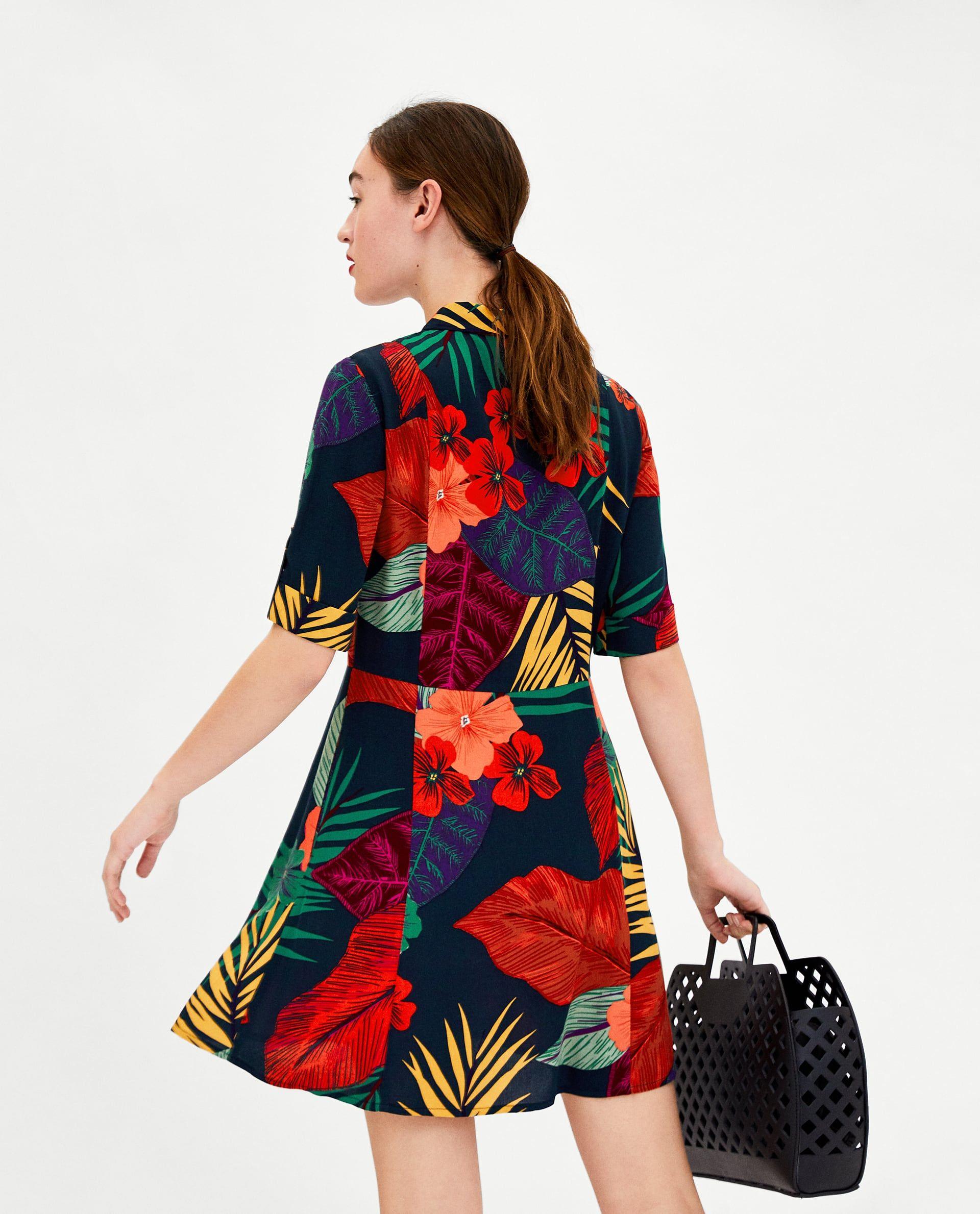 eae9cca174a FLOWER SHIRT DRESS