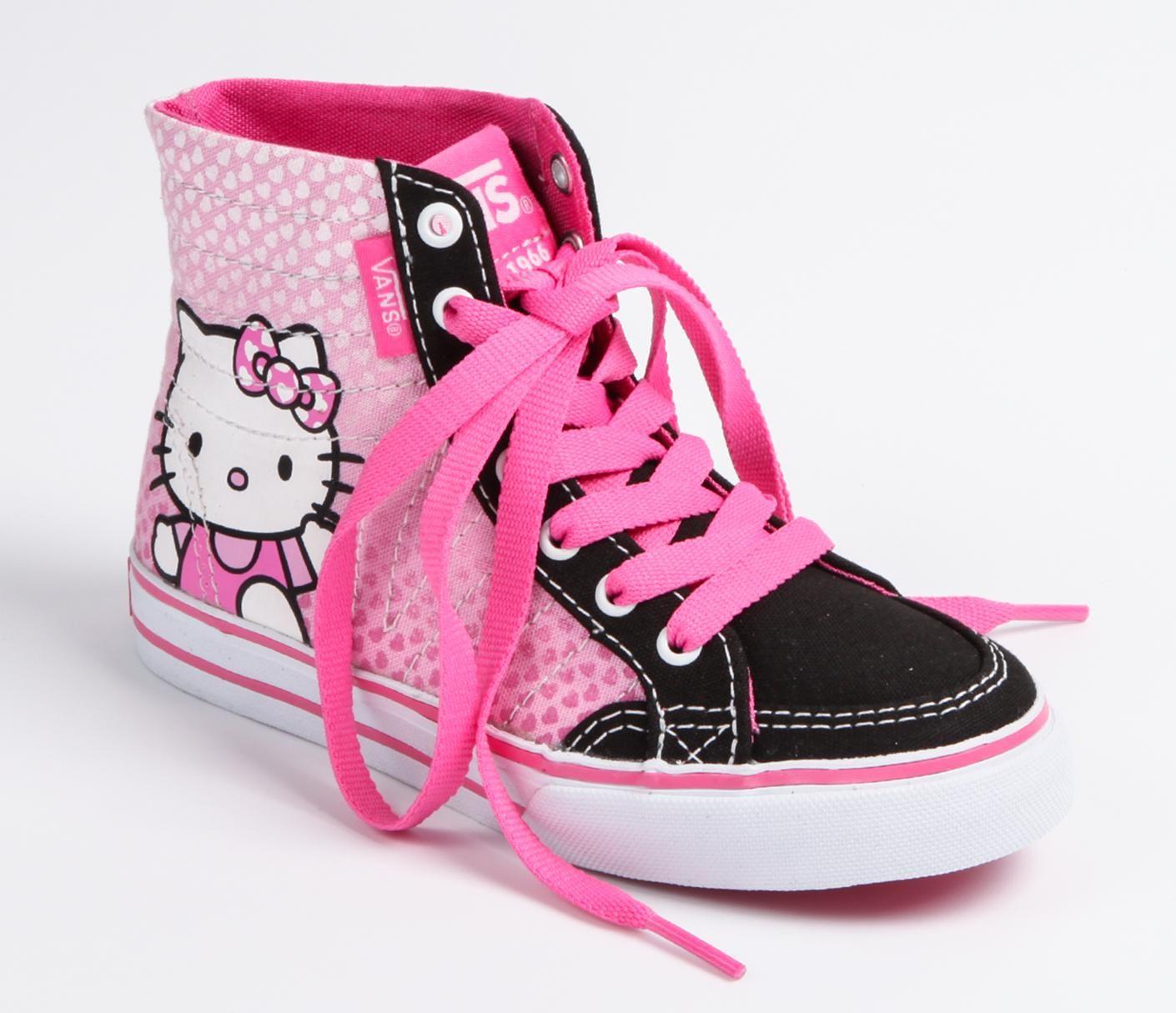 827997343c6e22 VANS x Hello Kitty Kids Authentic Hi-Top  Pink