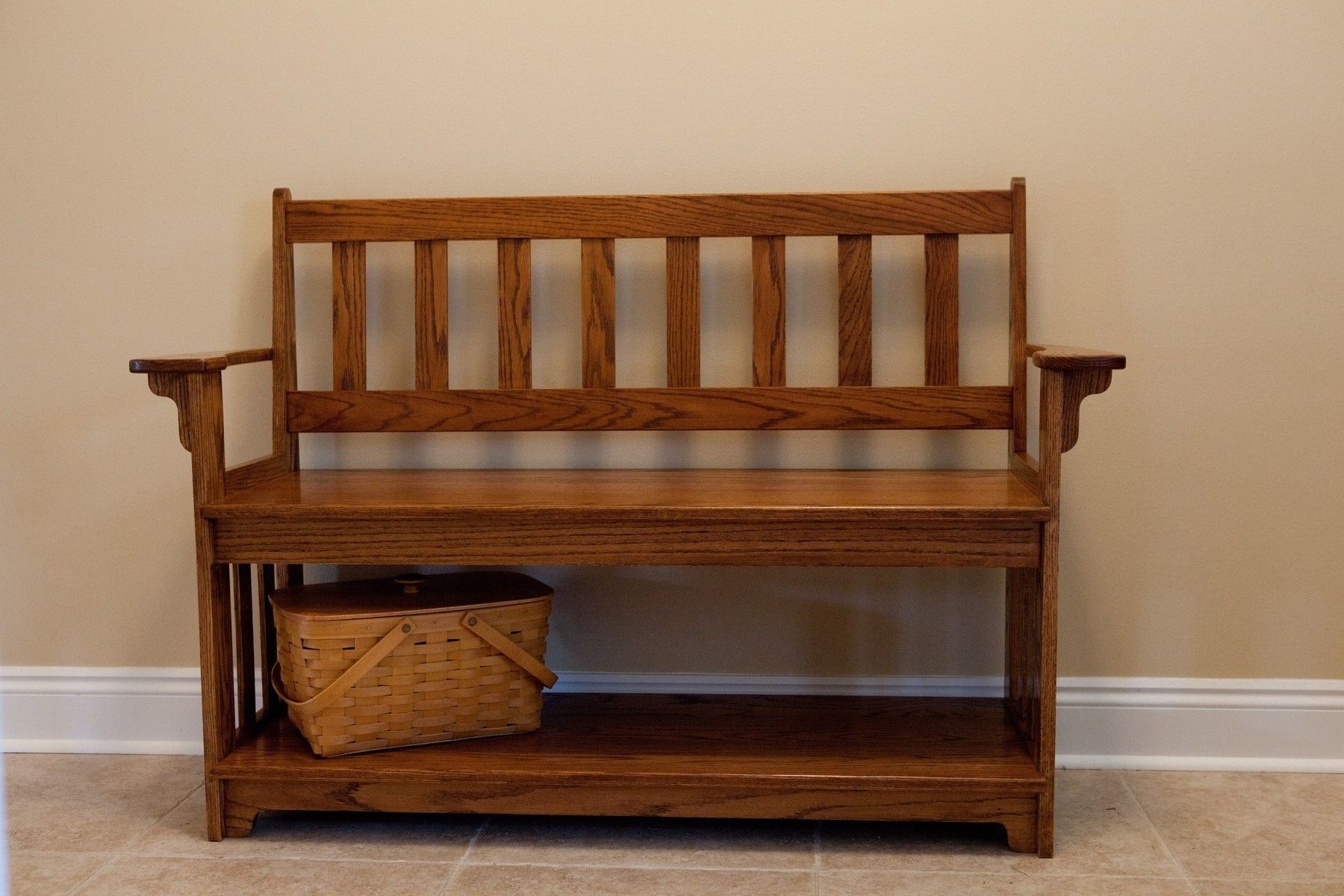 furniturewoodenentrywaybenchwitharmsbackandsingle