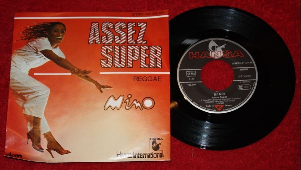 "MINO - Assez super + Raggae - Vinyl 7"" Single - Hansa"