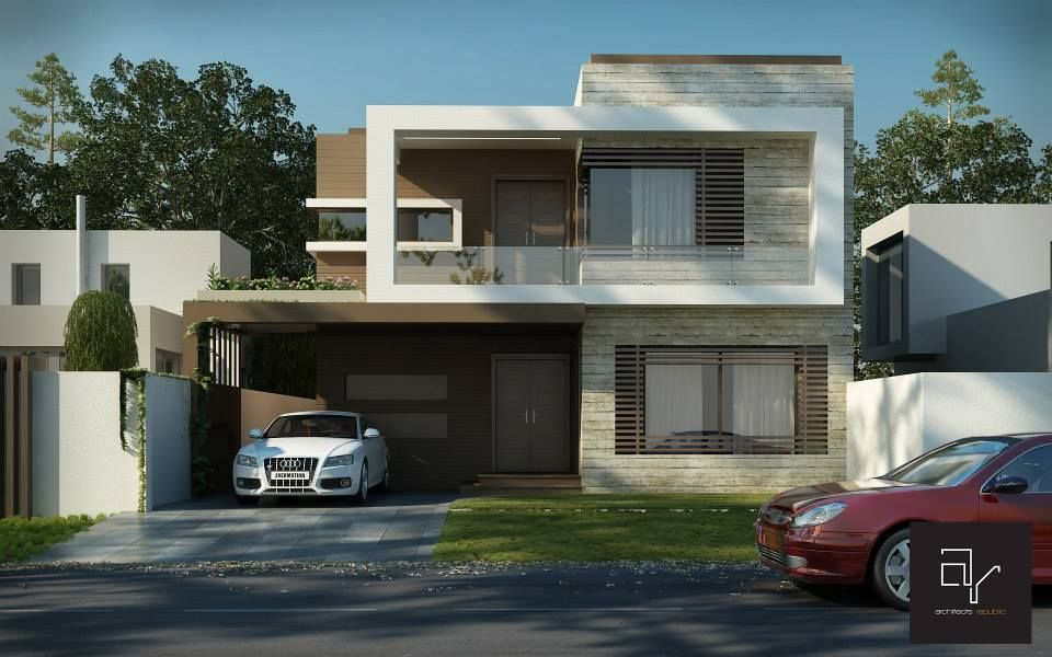 Front Elevation Cost : Contemporary house design construction