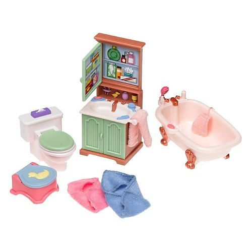 Beautiful Fisher Price Loving Family Dollhouse Furniture Set   Bathroom    Fisher Price   Toys