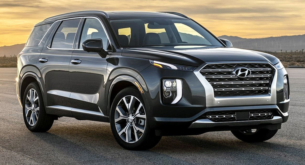 Hyundai Palisade 2020 The Korean Manufacturer Has Revealed Its New Full Size 7 Seat Suv At The Los Angeles Auto Show Korean L In 2020 Hyundai Large Suv New Hyundai