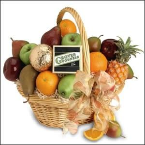 """As the name denotes, this """"plentiful fruit"""" gift basket contains nothing but our freshest, ripest fruits—upscale & delicious."""