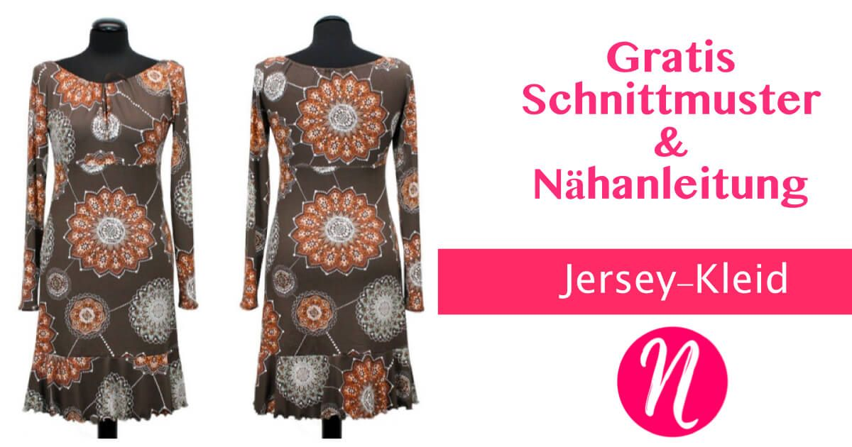 Jerseykleid mit Volant-Saum | Nähen | Pinterest | Sewing, Dress ...