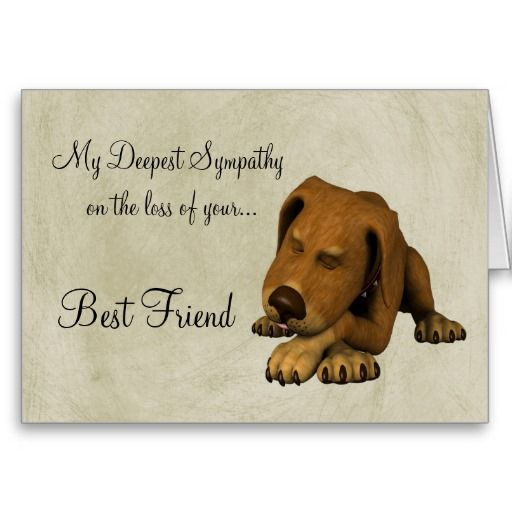 Dog Death Quotes: Sympathy On Loss Of Pet-Dog/with Poem Card