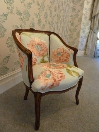 French Louis XV Style Tub Chairs. love the floral pattern. Wish the ...