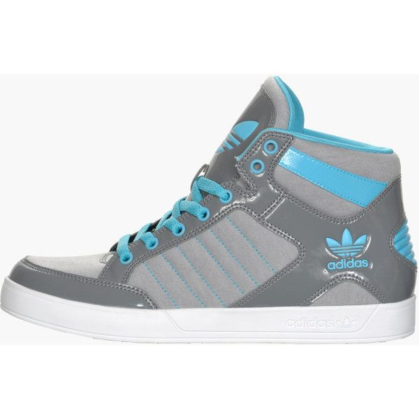 Women's adidas Originals Hardcourt Hi Casual Shoes (€68) ❤ liked on Polyvore featuring shoes, sneakers, chaussures, adidas, zapatillas, adidas shoes, adidas footwear, adidas trainers y rubber sole shoes