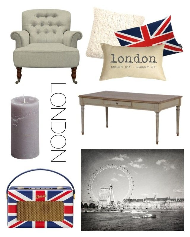 """London Love"" by vintagequirkychic ❤ liked on Polyvore featuring interior, interiors, interior design, home, home decor, interior decorating, Roberts, Pure Lana, Lava and Pillow Decor"