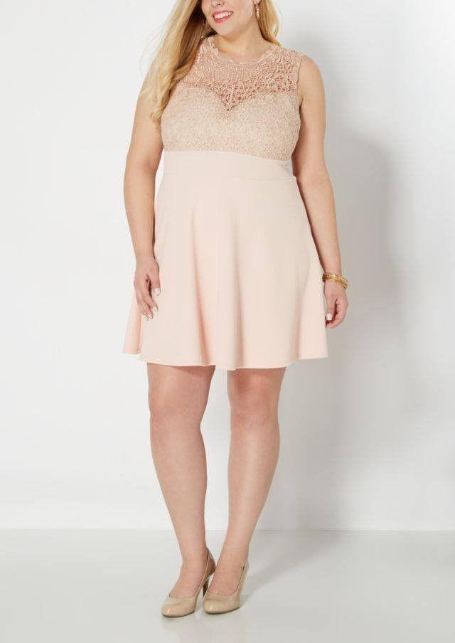 Lace Light Pink Skater Dress