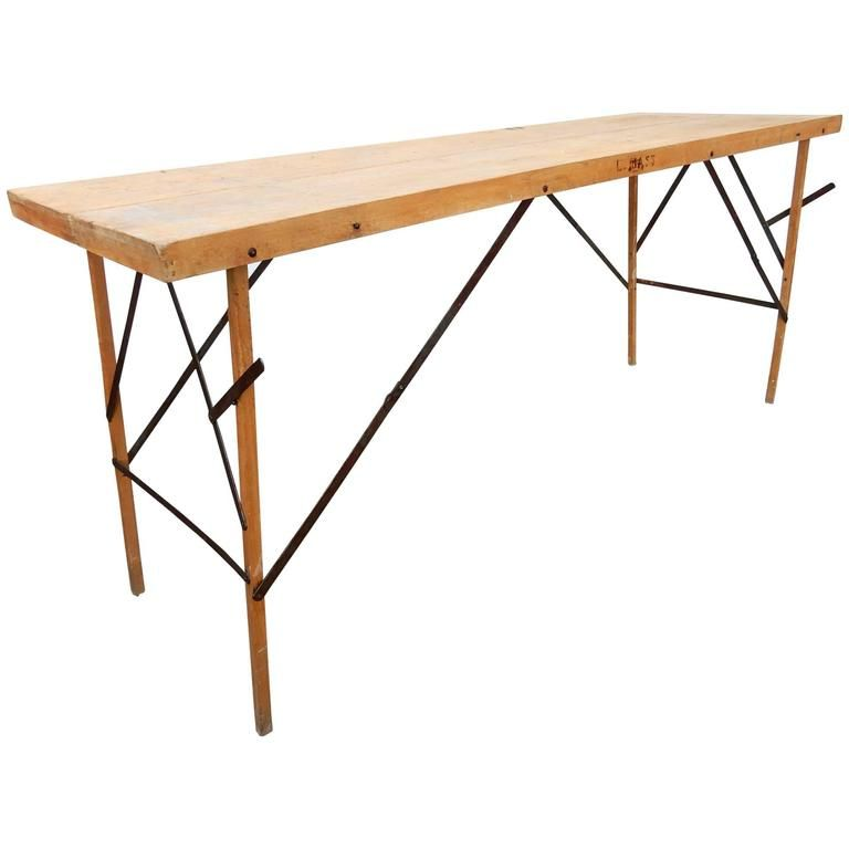 1930s Industrial Wallpaper Hangers Folding Table or Desk | From a unique collection of antique and