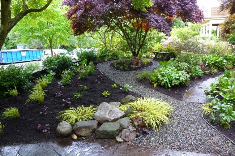 Piedras peque as para los caminos del jard n ideas for Camino de piedra para jardin