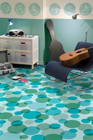Colorful Bathroom Tile Floor